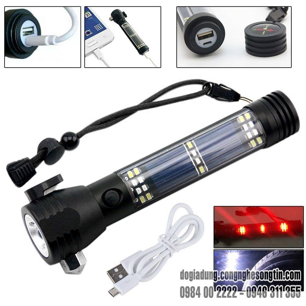 den-pin-police-11-chuc-nang-solar-power-flashlight